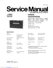 Honda CQ-EH8160AK User Manual