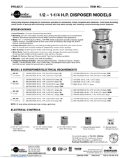 Insinkerator evolution 200 user manual | 2 pages | also for.