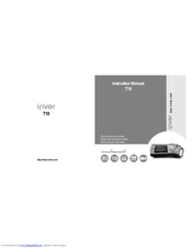 iriver t10 instruction manual pdf download rh manualslib com iRiver H10 20GB Iriver Products