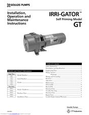 ITT Goulds Pumps IRRI-GATOR GT20 Installation And Operation Manual