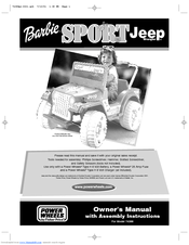 power wheels barbie sport jeep 74388 manuals rh manualslib com Walmart Barbie Cadillac Escalade Escalade for Barbie Doll