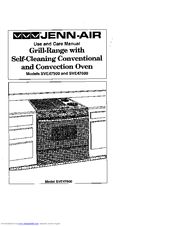 Jenn-Air SVE47500 Use And Care Manual