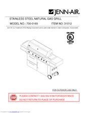 jenn air 730 0163 manuals rh manualslib com Jenn-Air Grill Parts List jenn-air 720 gas grill manual