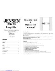 jensen ps475 manuals rh manualslib com
