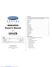 jensen msr4050g radio cd player manuals rh manualslib com jensen radio manual jwm6a jensen radio manual set time