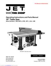 Jet 708315 Lsa Manuals