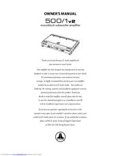 Jl audio 1000 1v2 manual.