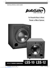 Jobsite LSS-12 Installation & User Manual