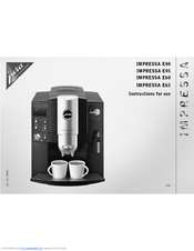 Jura Coffee Maker Manual : Jura IMPRESSA E65 Manuals