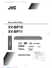 JVC BP11 - XV Blu-Ray Disc Player Instructions Manual