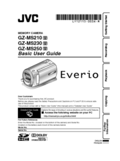 JVC Everio GZ-MS210 Basic User's Manual
