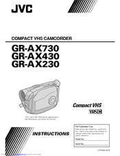 JVC GR-AX230 Instructions Manual