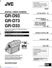 jvc gr d53 manuals rh manualslib com JVC Digital Video Camera Accessories Digital Video Camera JVC GR Da30u