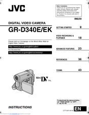 jvc gr d340ek manuals rh manualslib com