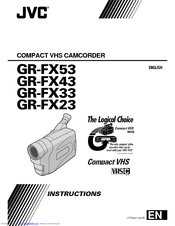 JVC GR-FX43 Instructions Manual