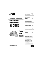 jvc gz mg20u manuals rh manualslib com JVC 20GB Hard Disk Camcorder JVC GZ Mg20u Charger