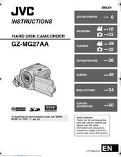 jvc gz mg27u everio camcorder 680 kp manuals rh manualslib com  jvc everio gz-mg27u software download