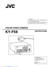 JVC KY-F58U Instruction