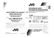 JVC KD-R428 Instruction Manual