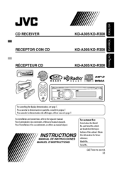 jvc kd a305 kd r300 manuals rh manualslib com JVC KD R300 Owner's Manual JVC KD R330 Wire Diagram