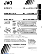 jvc kd g310 instruction manual pdf download rh manualslib com RM- RK50 JVC Car CD Player Installation
