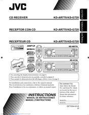 jvc kd g720 radio cd manuals rh manualslib com Instruction Manuals JVC Camcorders JVC Owner's Manual