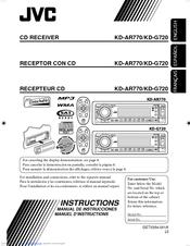 jvc kd g720 radio   cd manuals JVC User Manual KD- G430 Motorcycle JVC Instruction Manuals