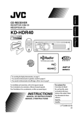 Jvc KD-HDR40 Manuals on