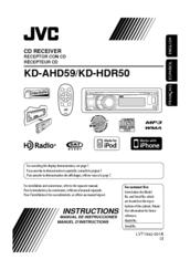 jvc kd hdr50 radio hd manuals rh manualslib com Radio JVC KS 125 JVC Radio CD Player