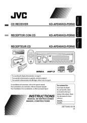 jvc kd pdr40 radio cd manuals rh manualslib com jvc car audio user manual JVC Car Radio Manual