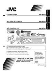 jvc kd bt11 instructions manual pdf download rh manualslib com JVC Receiver JVC CD Receiver Manual