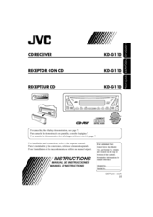 JVC KD-G110 Instructions Manual