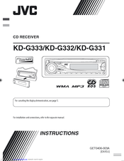 JVC KD-G332 Instructions Manual