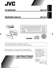 JVC KD-S12 INSTRUCTIONS MANUAL Pdf Download. on