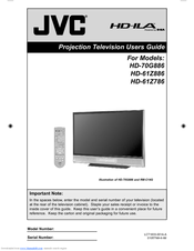 jvc hd61z886 61 rear projection tv manuals rh manualslib com jvc projection tv manual 61g787 jvc projection tv manual 61g787