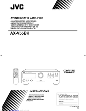 JVC AX-V55BK Instructions Manual