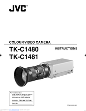 JVC TK-C1480U - Color Super Lolux Camera Instructions Manual