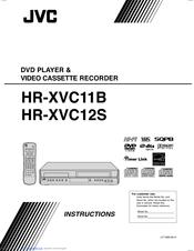 jvc hr xvc11b dvd vcr manuals rh manualslib com jvc vcr dvd combo manual jvc vcr manual model #hr-j643u