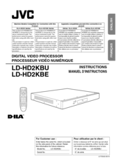 JVC D-ILA LD-HD2KBU Instructions Manual