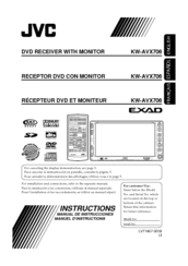 JVC EXAD KW-AVX706 Instructions Manual