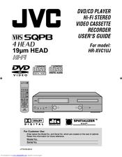 jvc model hr xvc1uj user manual pdf download rh manualslib com jvc dvd video recorder dr-mv150b manual JVC DVD VCR Combo Player
