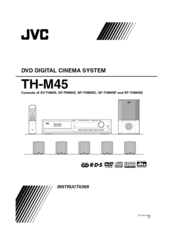 jvc th m45 progressive scan home theater system manuals rh manualslib com Home Theater JVC TH M603 Manual JVC Shelf Stereo System