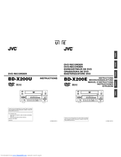 JVC BD-X200U - Dvd Authoring Recorder Instructions Manual