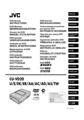 JVC CU-VD20US Instructions Manual