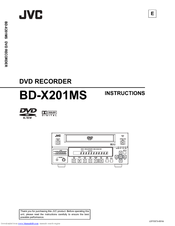 JVC BD-X201MS Instructions Manual