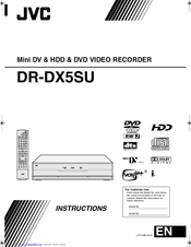 JVC DR-DX5SEK Instructions Manual