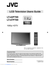 jvc lt42p789 42 lcd tv manuals rh manualslib com JVC 56 Rear Projection TV Manual TV JVC Rmc406