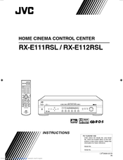 JVC RX-E112RSL Instructions Manual