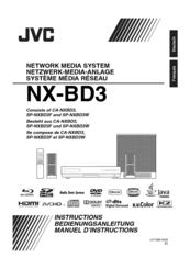 JVC CA-NXBD3 Instructions Manual