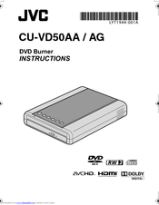 JVC CU-VD50AG Instructions Manual